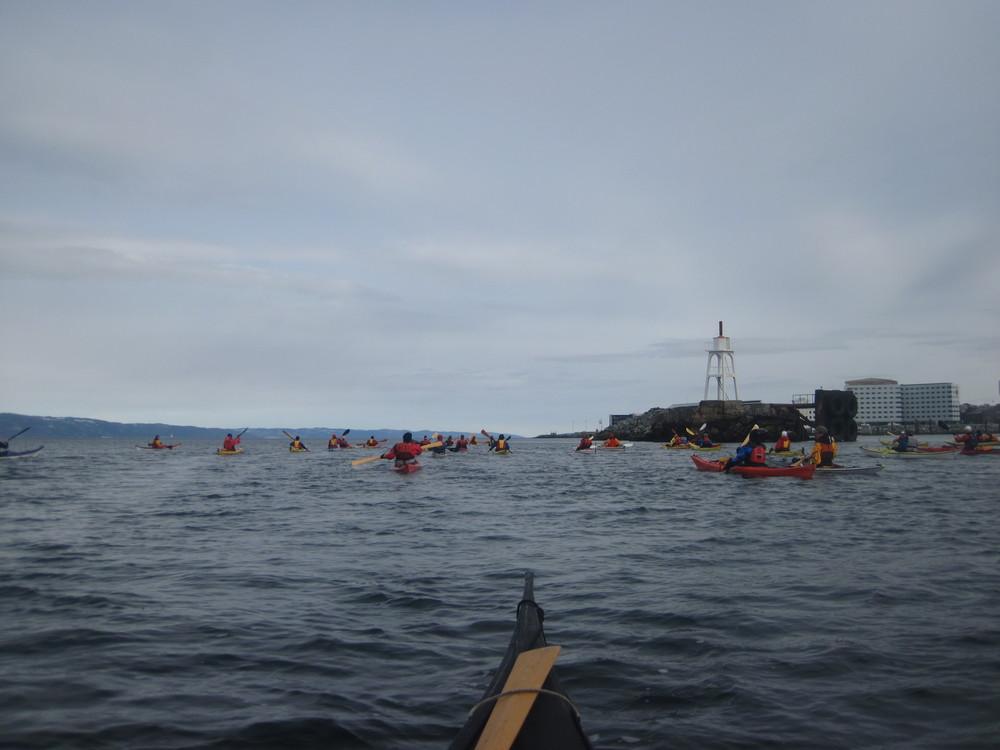 50 padlere på vei til Munkholmen