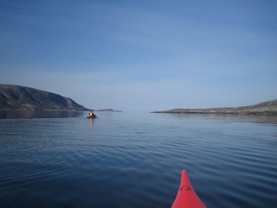 Magisk stemning på fjorden ved Drageid.