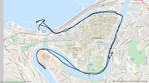 Dagens rute. 11km