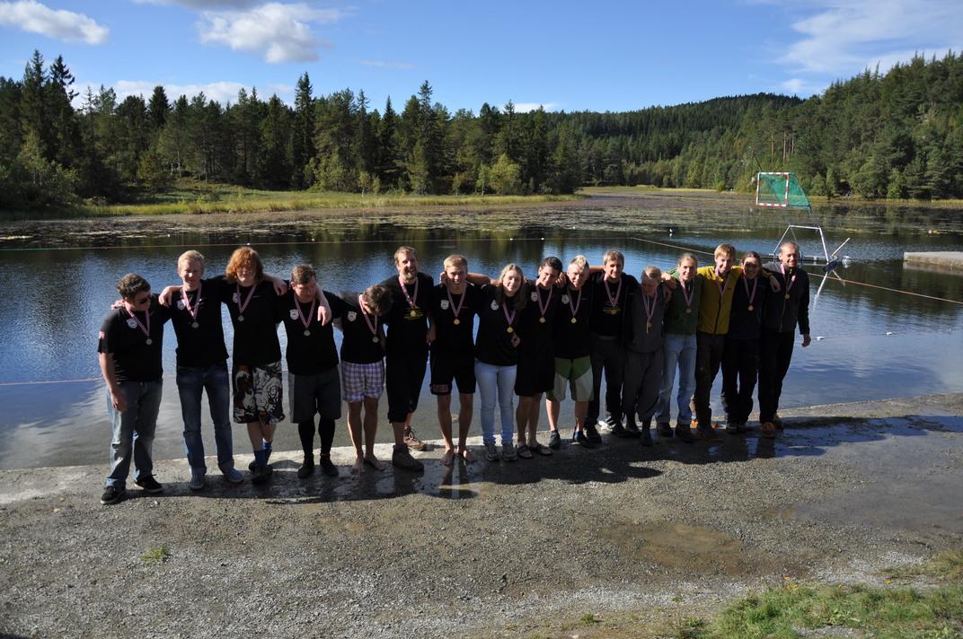 Vinnerlagene: Larvik 2, Larvik 1 og Trondheim 1. Foto: John Arvid Johnsen