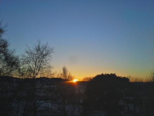 Solnedgang sett fra Sankthanshaugen.