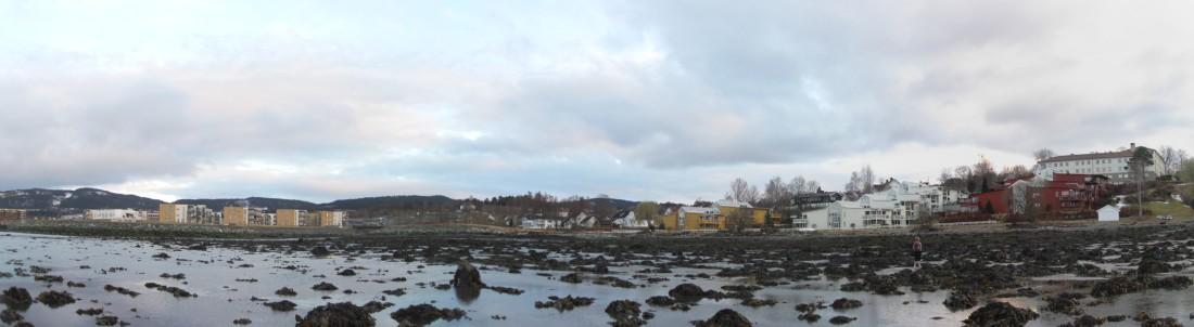 Panorama fra fjæra (finner du Betty i bildet?)