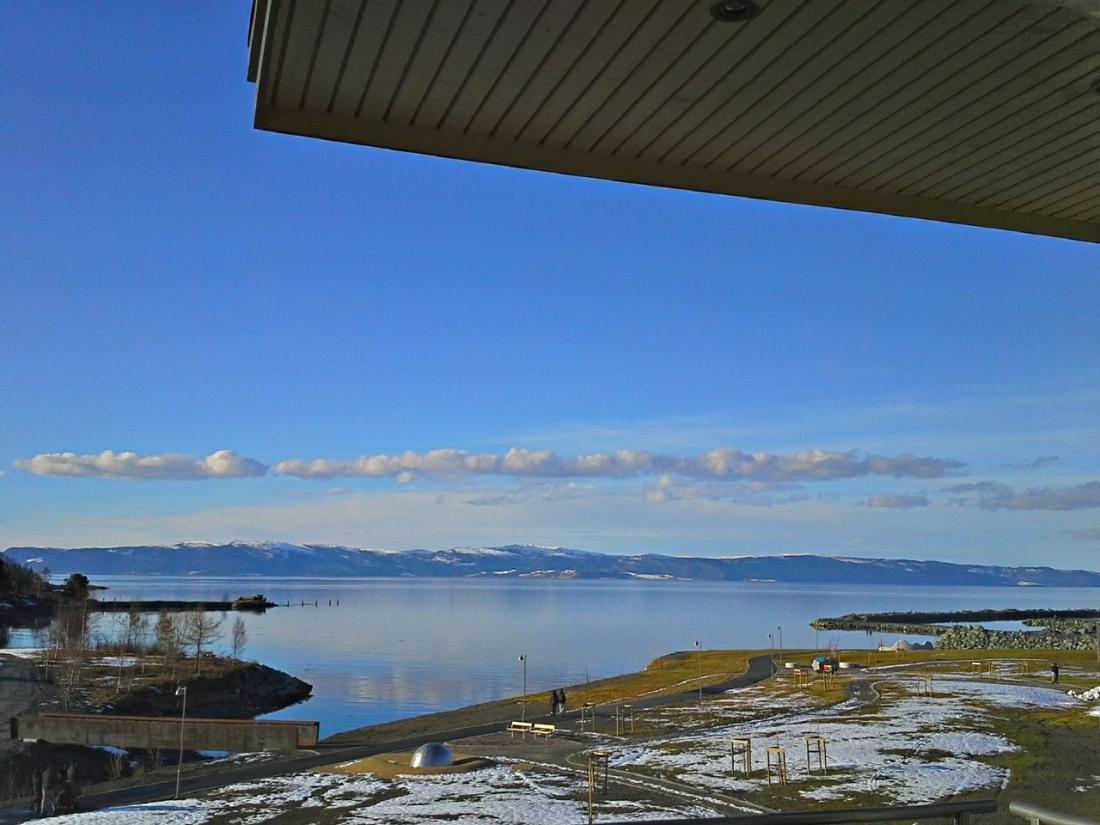 Utsikten fra terrassen.