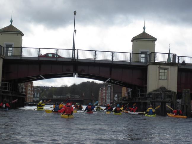 Padletoget under Bakke bro.