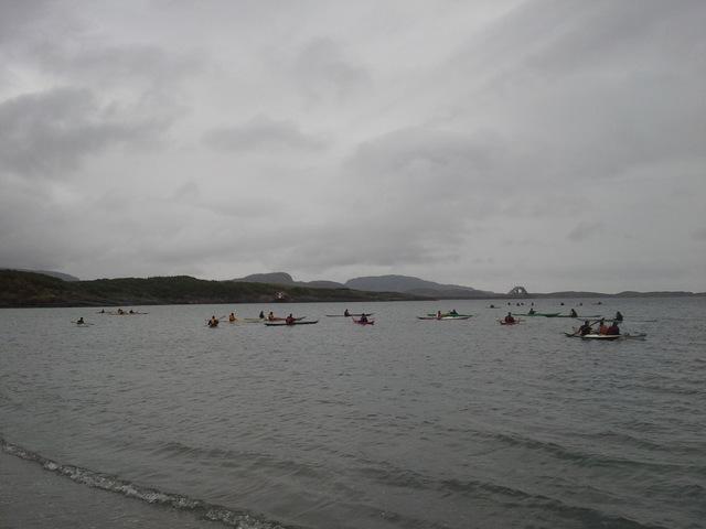 Qajaq-akademiet på sjøen