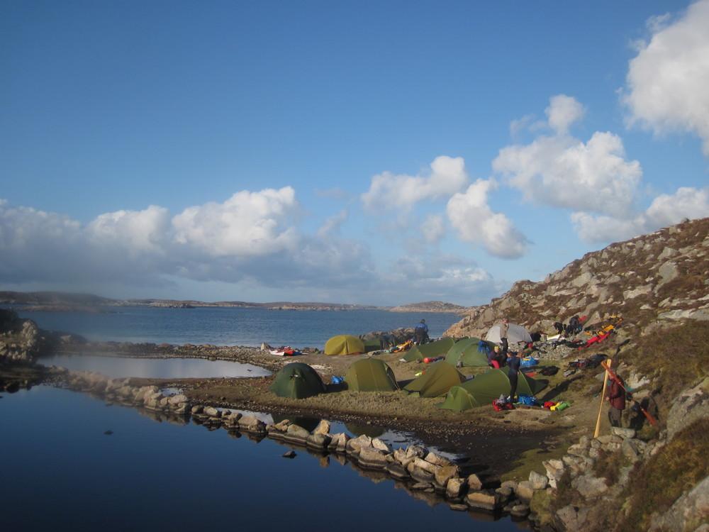 Leirplassen på Vågøya