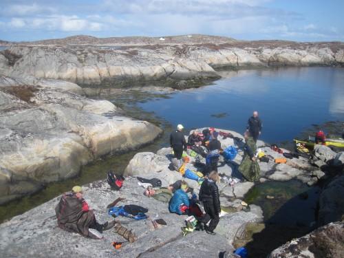 Lunsj på Valøya