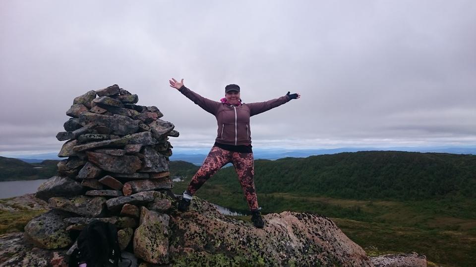 På toppen av Svartvassheias østre topp (560 moh)