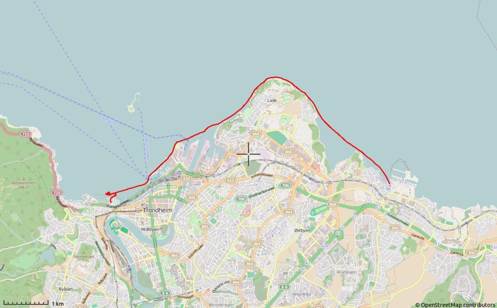 8,5 km padling fra Grilstad til SKansen